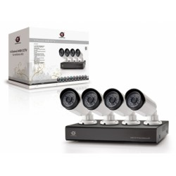 CONCEPTRONIC KIT VIDEOVIGILANCIA 4xCAMERAS(IP66)+GRAVADOR,IR LED 15MT,USB,CLOUD