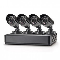 CONCEPTRONIC KIT VIDEOVIGILANCIA 4xCAMERAS,DAY/NIGHT,IR LED 15MT,IP66,USB BACKUP