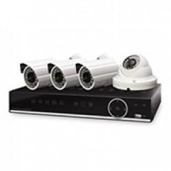 DIGITUS KIT VIDEOVIGILANCIA CCTV 4xCAMERAS HD OUTDOOR + NVR, IP66, RATO USB