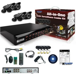 COMBO KIT KGUARD, 4 CAM./4 DVR, NS401-4CW214H