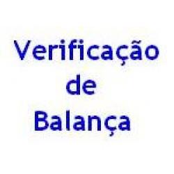 Taxa de 1ª verificação de balança