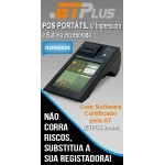 POS Compacto e Portátil ETPLUS c/ ETPOS versão básico