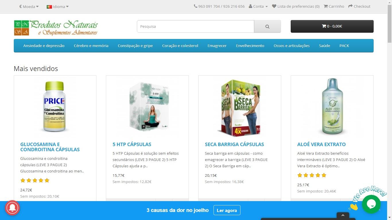 Loja de vendas online