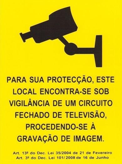 Video vigilância aviso obrigatório